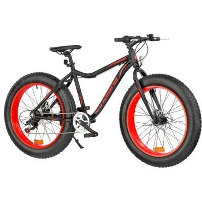 Rower górski MTB INDIANA Fat Bike M18 24 cale męski Czarno-czerwony