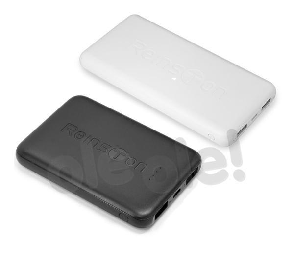 Reinston Zestaw powerbanków 10000mAh+5000mAh / EPB017 (biały) + EPB017 (czarny)
