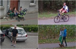Osie i Tleń - przyłapani przez kamery Google Street View na ulicach
