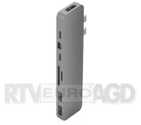 Hyper HyperDrive PRO 8-in-2 Hub dla USB-C MacBook Pro 2016/2017 (szary)