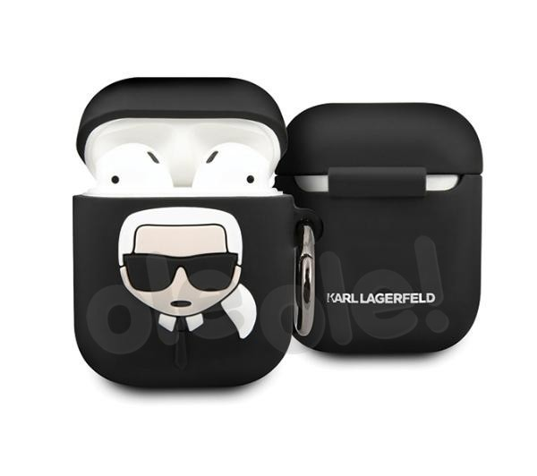 Karl Lagerfeld Silicone Ikonik KLACCSILKHBK AirPods