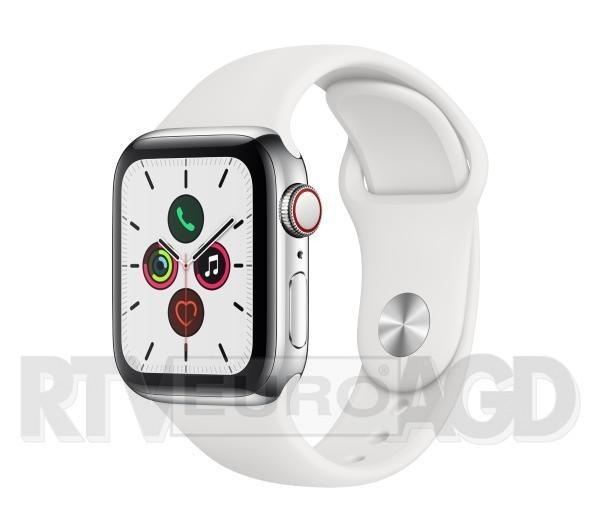 Apple Watch Series 5 40 mm GPS + Cellular Sport (biały)