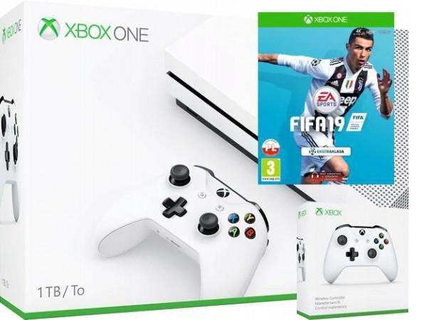 MICROSOFT Xbox One S 1TB + FIFA 19 + Dodatkowy kontroler