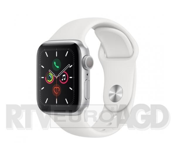 Apple Watch Series 5 44 mm GPS + Cellular Sport (biały)