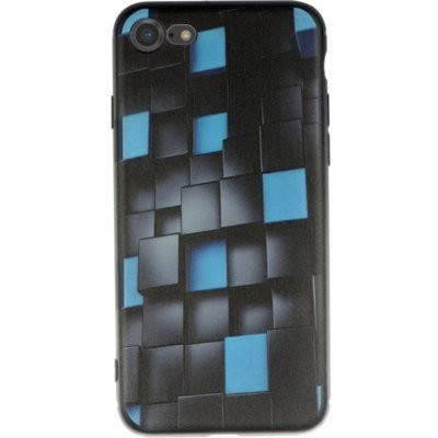 Etui WINNER GROUP 3D Glowing Cubes do Apple iPhone 7/8/SE 2020 Czarno-niebieski