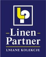 Logo firmy Linen Partner- Lniana Wzorcownia - tkaniny i dzianiny, odzież lniana,obrusy i  len frotte.