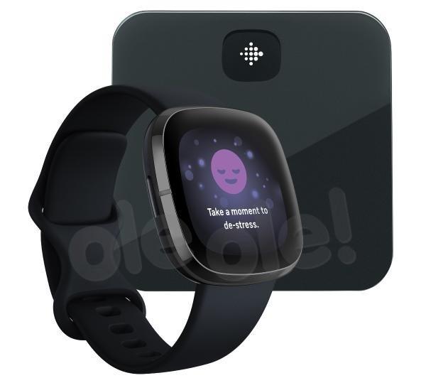 Fitbit sense (czarny) + Aria Air