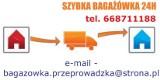 Logo firmy Tania Bagażówka24h. Przeprowadzka