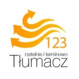 Logo firmy Biuro tłumaczeń 123 Sp. z o.o.