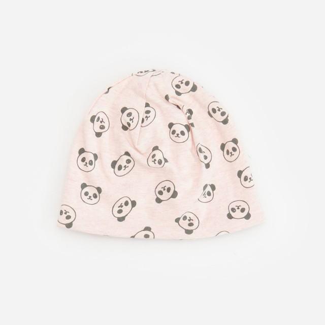 Reserved - Bawełniana czapka ze wzorem - Różowy