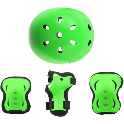 Kask VÖGEL VOK-650S Zielony dla Dzieci (Rozmiar S/M) + Zestaw ochraniaczy