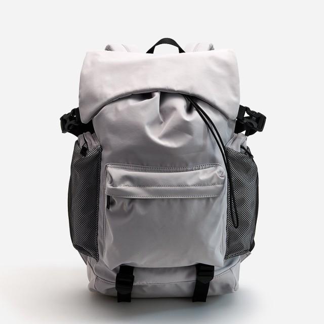 Reserved - Odblaskowy plecak z kieszeniami - Jasny szary