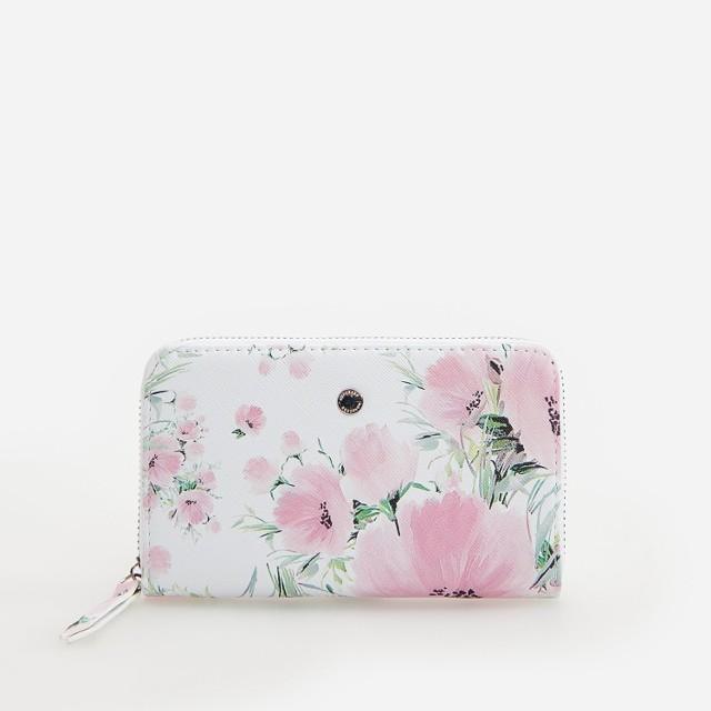 Reserved - Portfel w kwiaty - Fioletowy