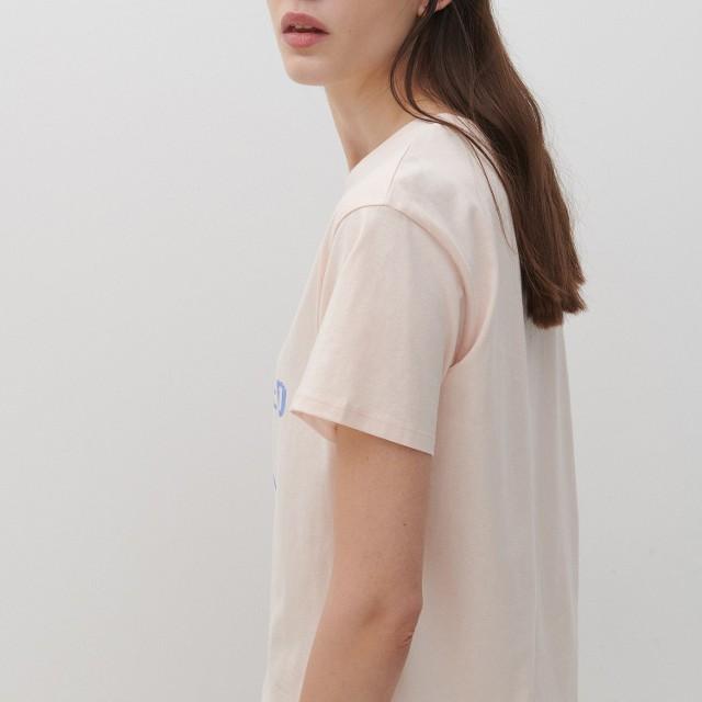 Reserved - T-shirt z nadrukiem - Różowy