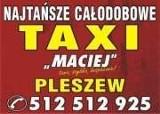 Logo firmy TAXI PLESZEW CAŁODOBOWE