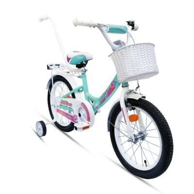 Rower dziecięcy LIMBER Girl 16 cali dla dziewczynki Miętowy