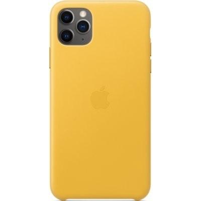 Etui APPLE Leather Case do iPhone 11 Pro Max Żółty