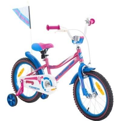 Rower dziecięcy INDIANA Roxy Kid 16 cali dla dziewczynki Różowy