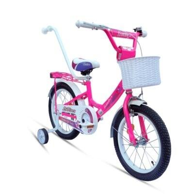 Rower dziecięcy LIMBER Girl 16 cali dla dziewczynki Neon Różowy