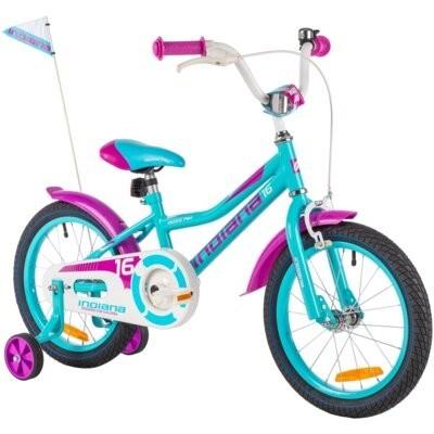 Rower dziecięcy INDIANA Roxy Kid 16 cali dla dziewczynki Turkusowy