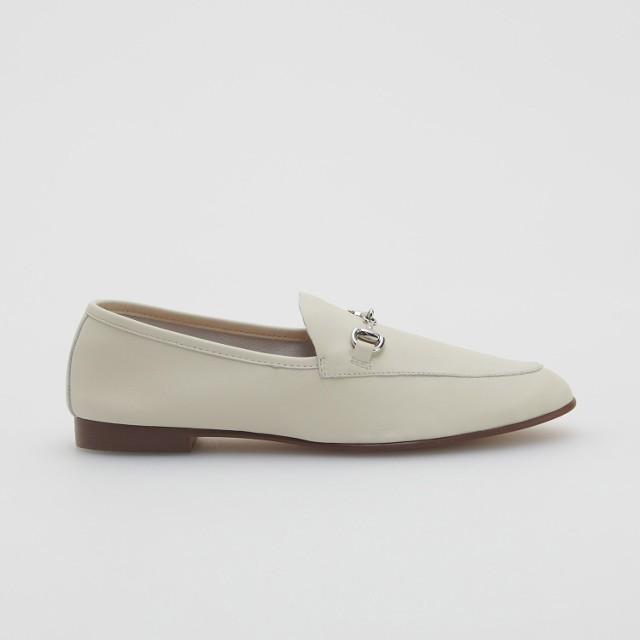Reserved - Klasyczne skórzane loafersy - Biały