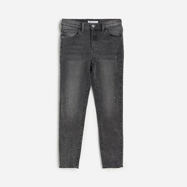 Reserved - Jeansy slim z bawełny organicznej - Szary