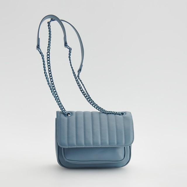 Reserved - Pikowana torebka - Niebieski