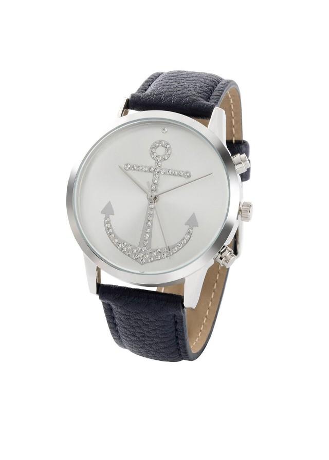 Zegarek na rękę bonprix ciemnoniebieski