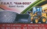 Logo firmy KAM - BOSS