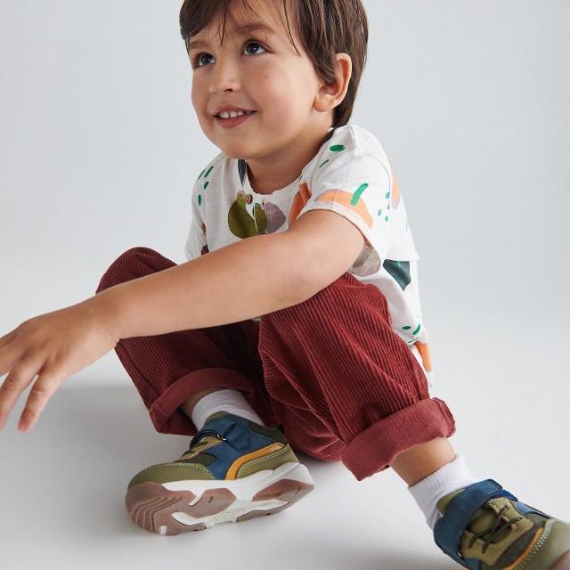 Reserved - Sneakersy z łączonych materiałów - Brązowy