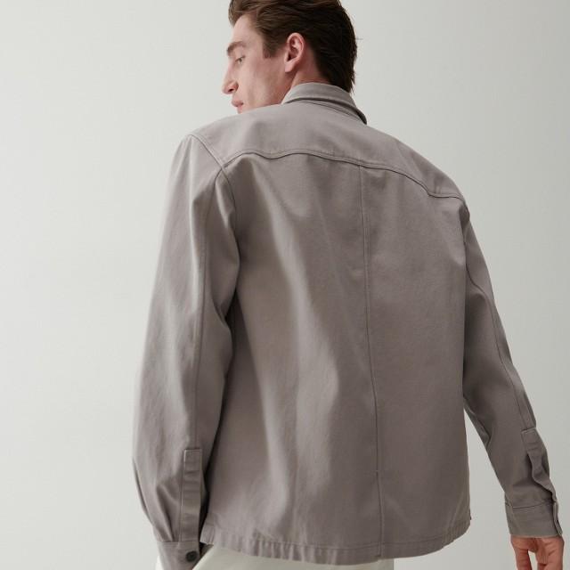 Reserved - Kurtka koszulowa oversize - Jasny szary