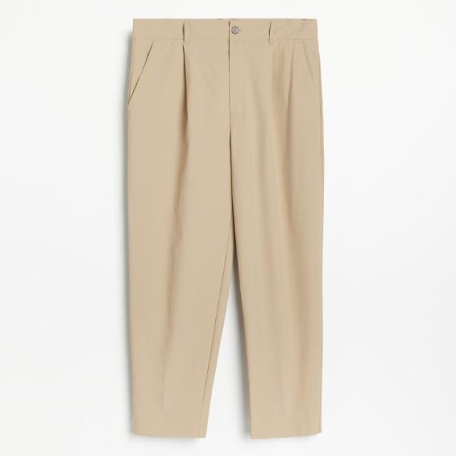Reserved - PREMIUM Lekkie spodnie z zakładkami - Zielony