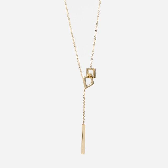 Reserved - Naszyjnik z zawieszkami - Złoty