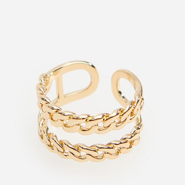 Reserved - Podwójny pierścionek - Złoty