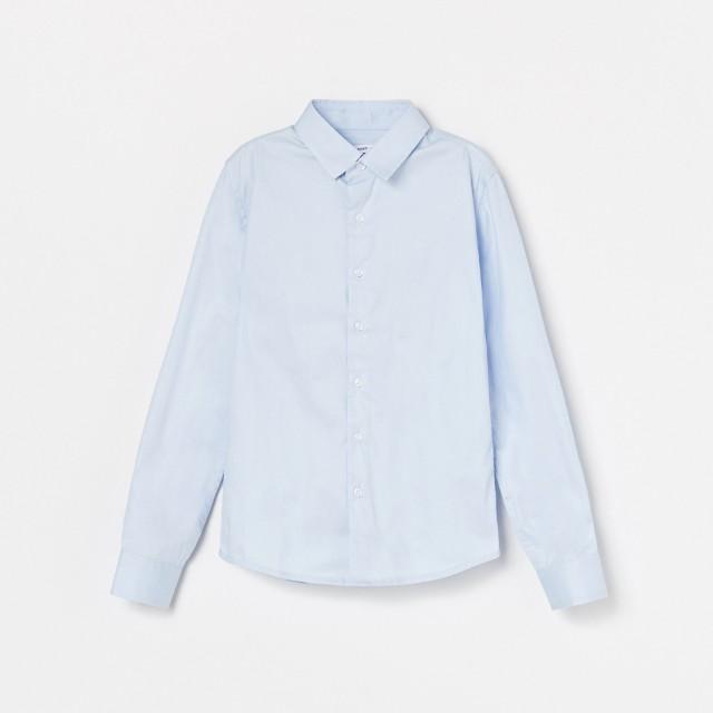 Reserved - Bawełniana koszula z kołnierzykiem - Niebieski