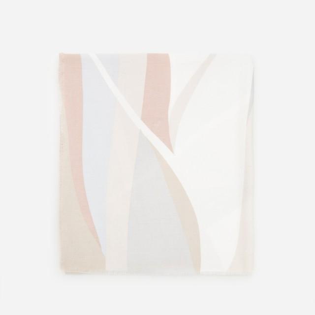 Reserved - Wzorzysty szalik - Różowy