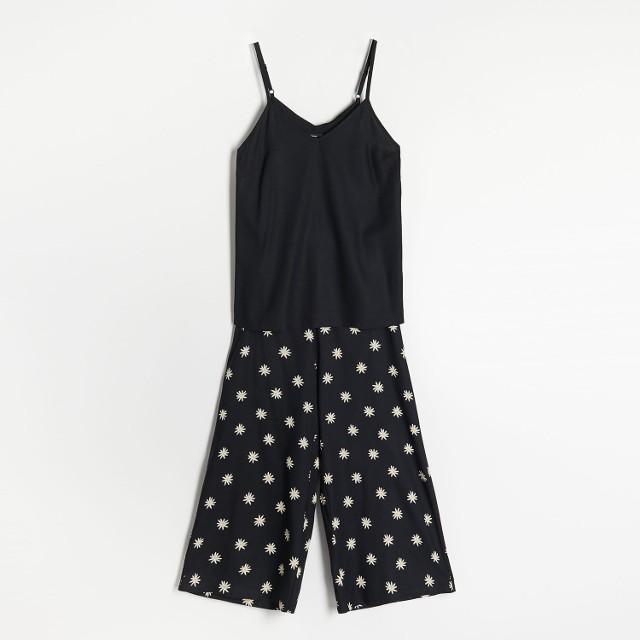 Reserved - Dwucześciowa piżama - Czarny