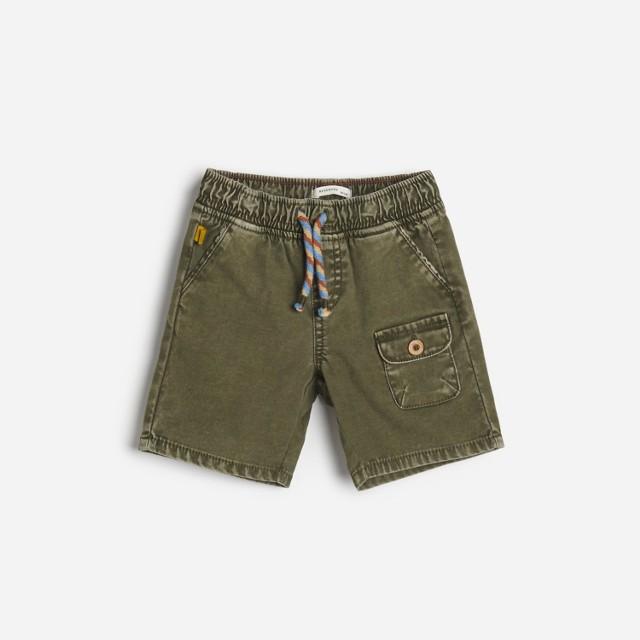Reserved - Tkaninowe szorty - Zielony