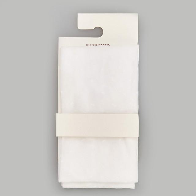 Reserved - Rajstopy z mikrofibry - Biały