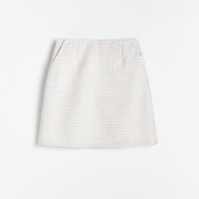 Reserved - Spódnica z fakturowanej tkaniny - Wielobarwny