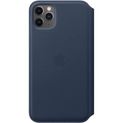 Etui APPLE Leather Case do iPhone 11 Pro Max Granatowy
