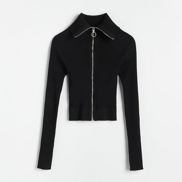 Reserved - Sweter z zapięciem na zamek - Czarny