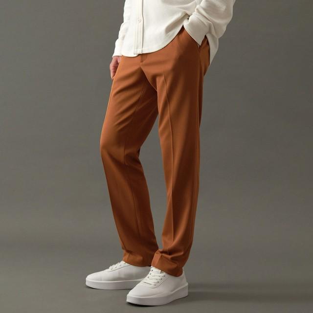 Reserved - Dzianinowe spodnie slim fit - Brązowy