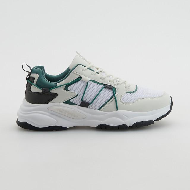 Reserved - Sneakersy z łączonych materiałów - Wielobarwny