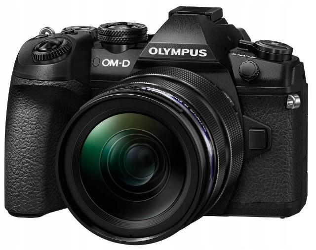 Aparat fotograficzny Olympus E-M1+ obiektyw czarny