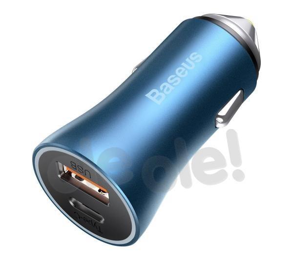 Baseus Golden Contactor Pro, USB + USB-C, QC4.0+, PD, SCP, 40W (niebieski)