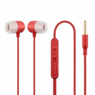 ACME Europe Słuchawki z mikrofonem douszne czerwone HE21R