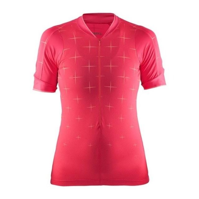 Craft, Koszulka rowerowa, Belle Glow Jersey, różowy, rozmiar L