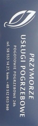 """Logo firmy """"Przymorze"""" Zakład Pogrzebowy"""
