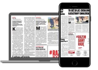 Czytaj gazetę online przez 90 dni za połowę ceny